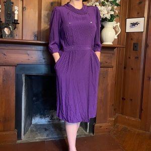 100% SILK vintage wrap dress